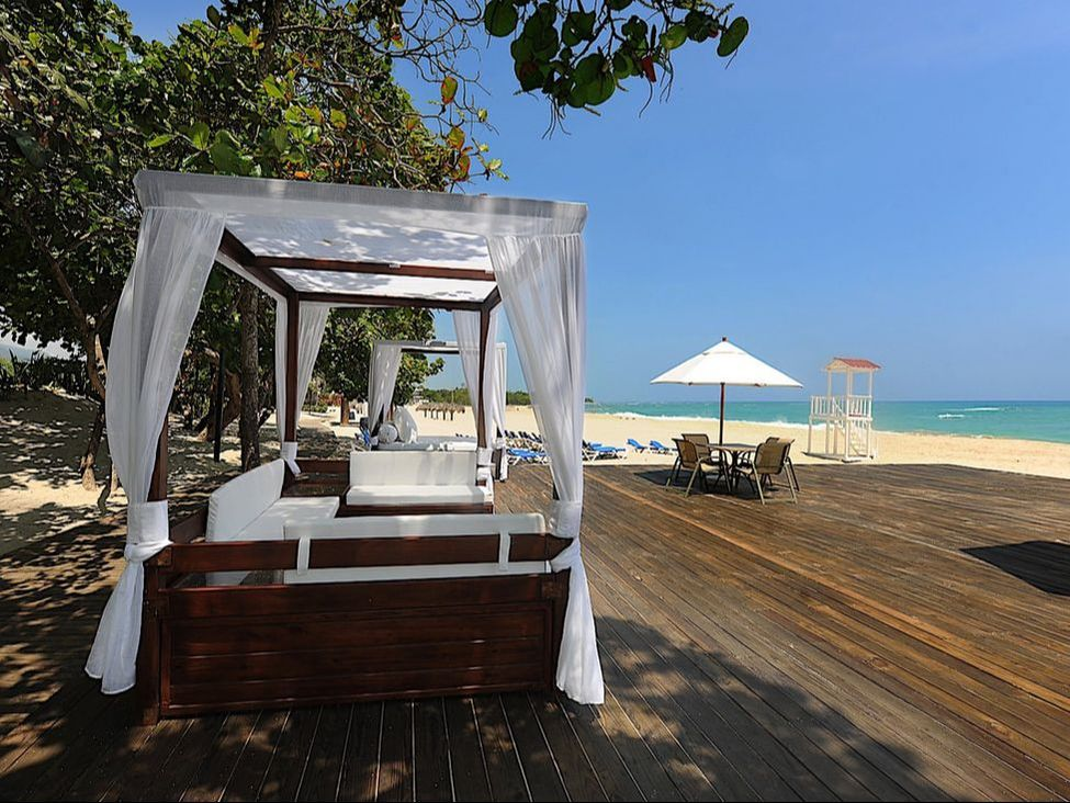A private cabana on the beach